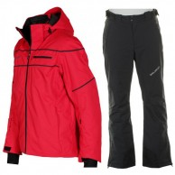 DIEL Alfred/Bart ski set, men, red/black