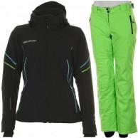 DIEL Celia/Chara ski set, women, black/green
