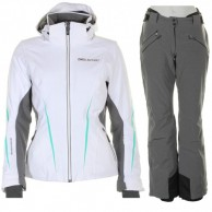 DIEL Bianka/Brea ski set, women, white/grey