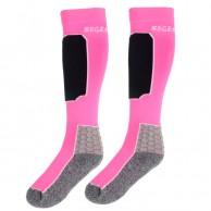 Seger Racer, Ski Socks, 2-pair, shock pink