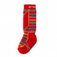 Seger Racer, wool ski socks, kids, red