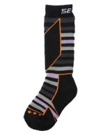 Seger Racer, wool ski socks, kids, navy