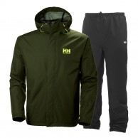 Helly Hansen Seven J, Rain Suit, mens, green