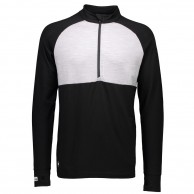 Mons Royale Checklist 1/2, base layer, Black/Grey Marl