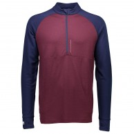 Mons Royale, Checklist 1/2, base layer, Navy/Burgundy