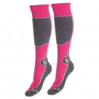 Seger Racer, Mens Ski Socks, 2-pair, pink