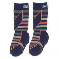 Seger Racer, wool ski socks, kids, 2-pair, navy