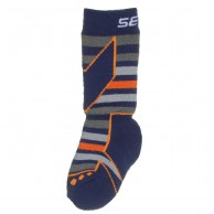 Seger Racer, wool ski socks, kids, navy