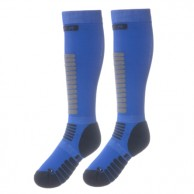Seger Zone, Mens Ski Socks, 2-pair, blue