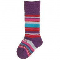 Seger Racer, wool ski socks, kids, purple