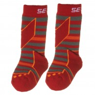Seger Racer, wool ski socks, kids, 2-pair, red