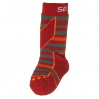 Seger Racer, wool ski socks, kids, red