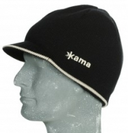 Kama knitted beanie in Gore-Tex, black