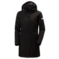 Helly Hansen W Aden Long, Rain Jacket, womne, black