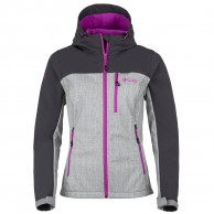 Kilpi Elia, womens soft shell jacket, grey/violet