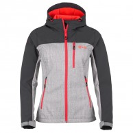 Kilpi Elia, womens soft shell jacket, grey/red