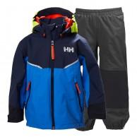Helly Hansen K Shelter, Rain suit, blue/grey