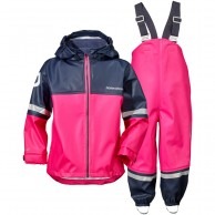 Didriksons Waterman, Rain Suit, kids, fuchsia