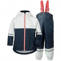 Didriksons Waterman, Rain Suit, kids, navy/white