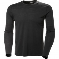 Helly Hansen Merino Light LS, men, ebony
