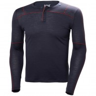 Helly Hansen Merino Light Button LS, men, dark blue