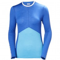 Helly Hansen Merino Light LS, womens, blue