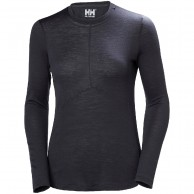 Helly Hansen Merino Light LS, womens, ebony