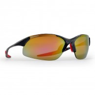 Demon 832 sunglasses w. 3 set lenses, carbon/red