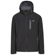 Trespass Accelerator II, mens soft shell jacket, black
