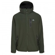 Trespass Accelerator II, mens soft shell jacket, olive