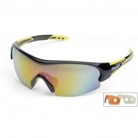 Demon Fuel sport sunglasses, black/yellow, 3 lenses