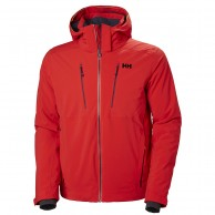 Helly Hansen Alpha 3.0 ski jacket, mens, flag red
