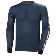 Helly Hansen Lifa Stripe Crew, mens, dark teal