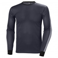Helly Hansen Lifa Stripe Crew, mens, graphite blue
