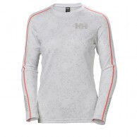 Helly Hansen W Lifa Active Graphic Crew, dame, white