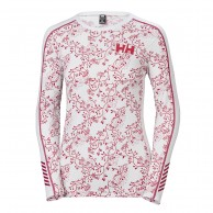 Helly Hansen W Lifa Active Graphic Crew, dame, flag red