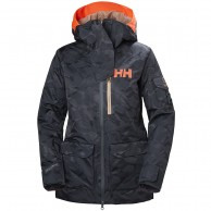 Helly Hansen W Powderqueen 2.0 Ski Jacket, women, blue camo