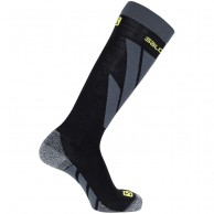 Salomon S/Access ski socks, black/forged iron