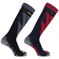 Salomon S/Access ski socks, 2-pack, night sky/black