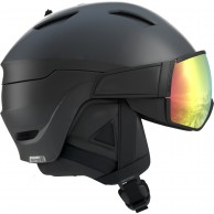 Salomon Driver+ Photo, helmet with visor, black