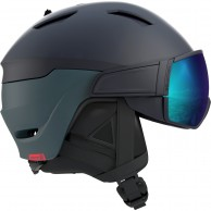 Salomon Driver Dr., helmet with visor, blue/solar