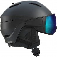Salomon Driver S, helmet with visor, black