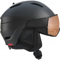 Salomon Driver S, helmet with visor, black/red