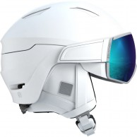 Salomon Mirage, helmet with visor, white/solar