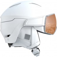Salomon Mirage S, helmet with visor, white