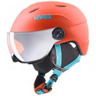 Uvex junior pro, helmet with visor, orange