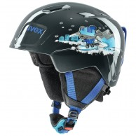 Uvex Manic, helmet, black snow dog