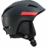 Salomon Ranger2 Ski Helmet, black/red accent