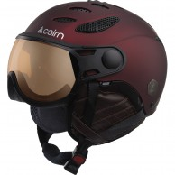 Cairn Cosmos Photochromic, ski helmet with Visor, burgundy