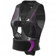 Salomon Flexcell Women ski back protector, Black/Purple